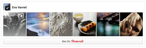 Pinterest profile widget