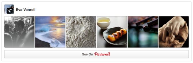 Pinterest profile widget