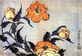 640px-Hokusai_Poppies